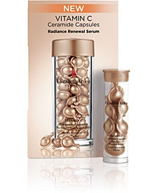 Receive a FREE 7-Pc. Vitamin C Ceramide Capsules Radiance Renewal Serum tower with any purchase