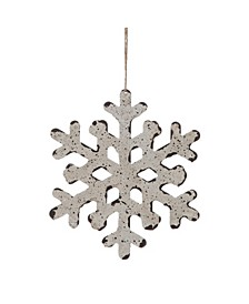 Small Metal Snowflake Ornament - Set of 3
