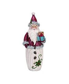 Resin Large Red Christmas Vintage Tinsel Santa