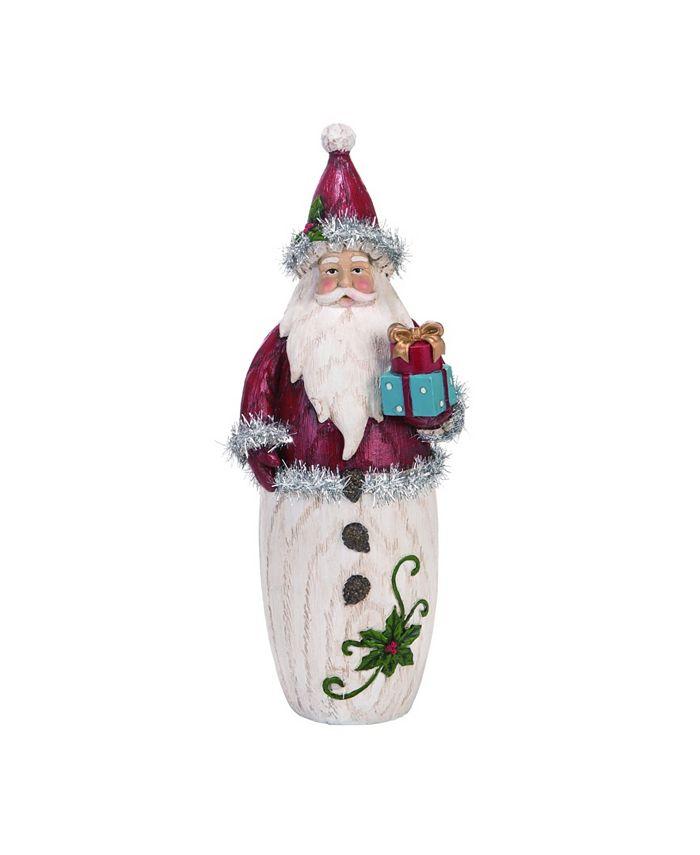 Trans Pac - Resin Large Red Christmas Vintage Tinsel Santa