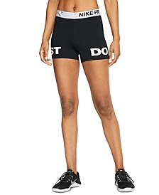 Women's Pro Printed-Waistband Just Do It Shorts