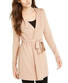 Belted Open-Front Cardigan, Created For Macy's
