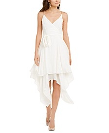 Chain-Strap Layered-Hem Dress, Created For Macy's
