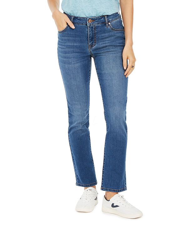 Style & Co Modern Straight Mid Rise Jeans, Created for Macy's