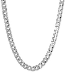 "Curb Link 24"" Chain Necklace in Sterling Silver"