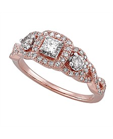 Diamond (1/2 ct. t.w.) Engagement Ring in 14K Rose Gold