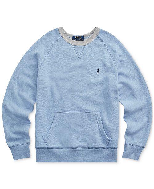 Polo Ralph Lauren Big Boys Twill Terry Sweatshirt