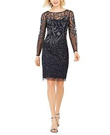 Beaded Long-Sleeve Dress