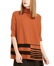 Printed Poncho Sweater, Created for Macy's