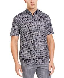 Men's Stretch Geo-Print Shirt, Created For Macy's