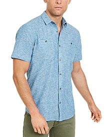 INC Men's Ricky Short Sleeve Shirt, Created for Macy's