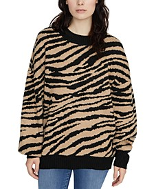 Wild Kingdom Animal-Print Sweater
