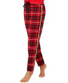 Lurex & Plaid Pajamas Pants, Created For Macy's