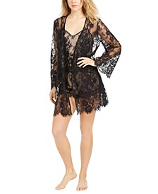 INC Lace Shorts Pajamas Set & Wrap, Created For Macy's