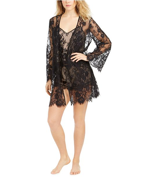 INC International Concepts INC Lace Shorts Pajamas Set & Wrap, Created For Macy's