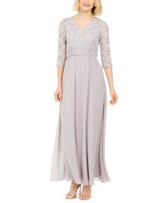 Jessica Howard Womens Plus Size Elbow Sleeve Shift Dress
