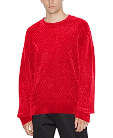 Men's Textured Diagonal Sweater