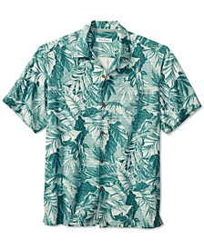 Men's Big & Tall Shadow Toucan Classic-Fit Tropical-Print Silk Camp Shirt