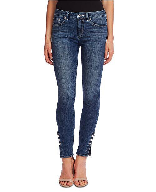 CeCe Embellished Skinny Jeans