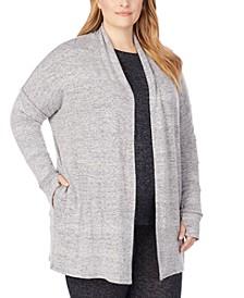 Plus Size Soft Knit Wrap Cardigan