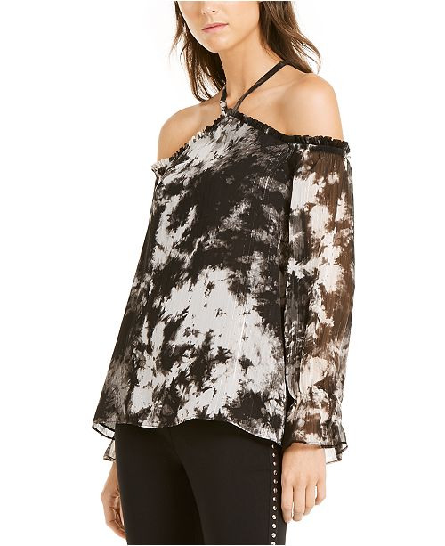 INC International Concepts INC Tie-Dyed Cold-Shoulder Top, Created For Macy's