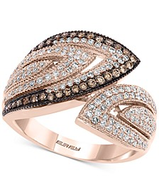 EFFY® Diamond Bypass Statement Ring (3/4 ct. t.w.) in 14k Rose Gold