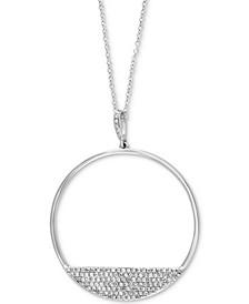 "EFFY® Diamond Circle 18"" Pendant Necklace (3/8 ct. t.w.) in 14k White Gold"