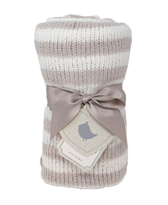Living Textiles - Stripe Chenille Baby Blanket