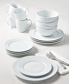Martha Stewart Textured Whiteware 16-Pc. Dinnerware Set, Service for 4, Created for Macy's