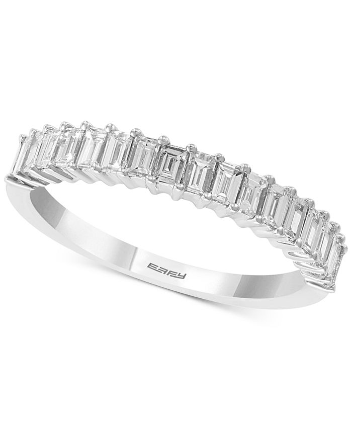 EFFY Collection - Diamond Baguette Anniversary Ring (5/8 ct. t.w.) in 14k White Gold