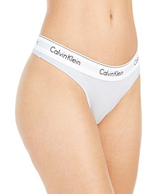 Calvin Klein Women's Modern Cotton Thong Underwear F3786
