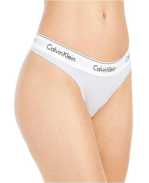 Calvin Klein Calvin Klein Women's Modern Cotton Thong Underwear F3786