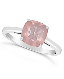 Amethyst (1-3/4 ct. t.w.) Ring in Sterling Silver. Also Available in Rose Quartz (2-1/4 ct. t.w.) and Citrine (1-7/8 ct. t.w.)