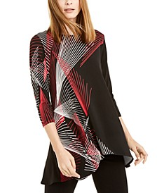 Petite Printed High Low Tunic, Created for Macy's