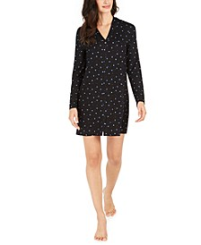 Printed Button-Front Sleep Shirt, Created For Macy's
