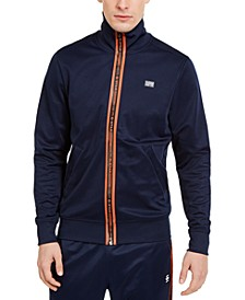 Men's Slim-Fit Logo Placket Track Jacket, Created for Macy's