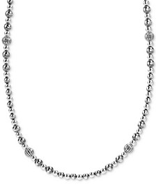 "Multi-Bead Statement Necklace in Sterling Silver, 24"" + 2"" extender"