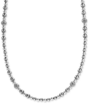 Multi-Bead Statement Necklace in Sterling Silver
