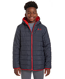 Under Armour Big Boys Reversible Pronto Puffer Hooded Jacket