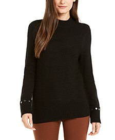 Embellished Ribbed-Knit Sweater, Created for Macy's