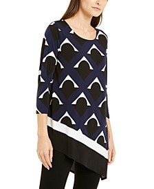 Printed Asymmetrical-Hem Top, Created For Macy's