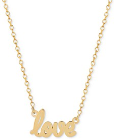 Love Adjustable Pendant Necklace in 14k Gold-Plated Sterling Silver