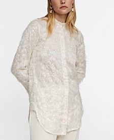 Leandra Medine Sequin Shirt