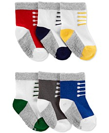 Baby Boys 6-Pk. Sneaker Socks