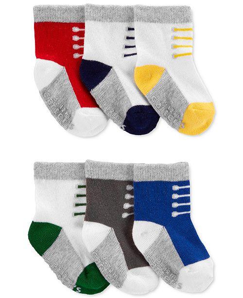 Carter's Baby Boys 6-Pk. Sneaker Socks