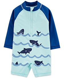 Baby Boys 1-Pc. Shark-Print Rash Guard