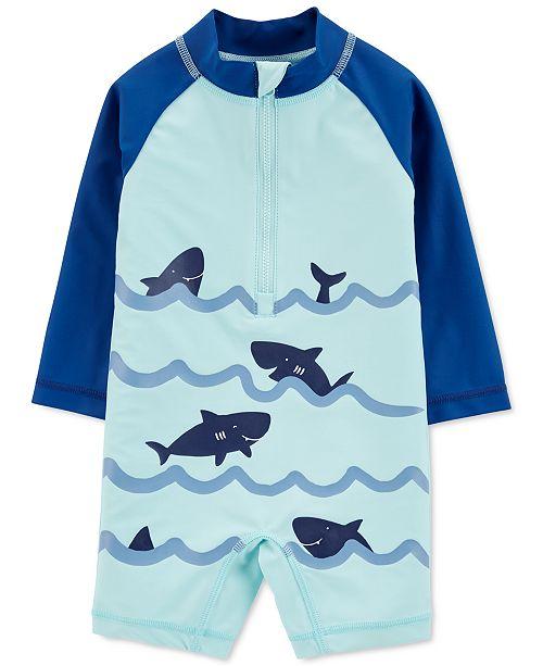Carter's Baby Boys 1-Pc. Shark-Print Rash Guard