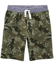 Little & Big Boys Cotton Camo-Print Pull-On French Terry Shorts