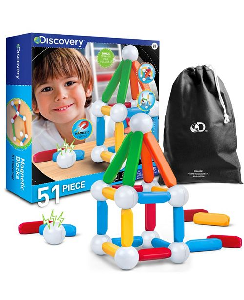 Discovery Kids Toy Magnetic Building Blocks 51pcs- STEM