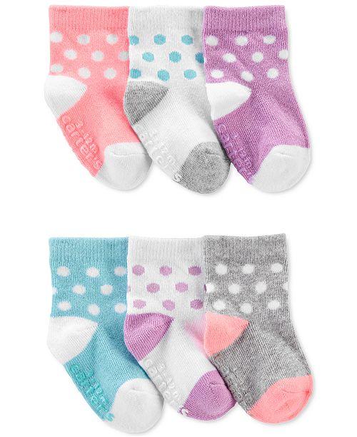 Carter's Baby Girls 6-Pk. Polka-Dot Socks